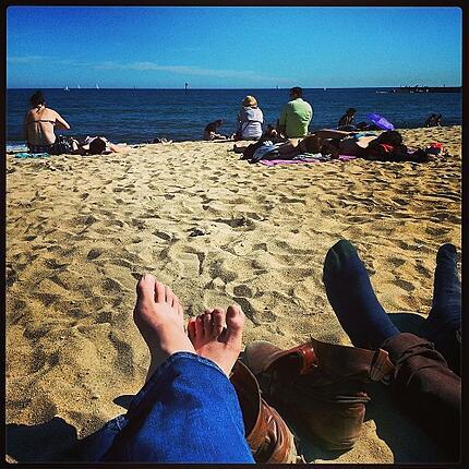 Lauren ORourke ITA Alumni Barcelona beach