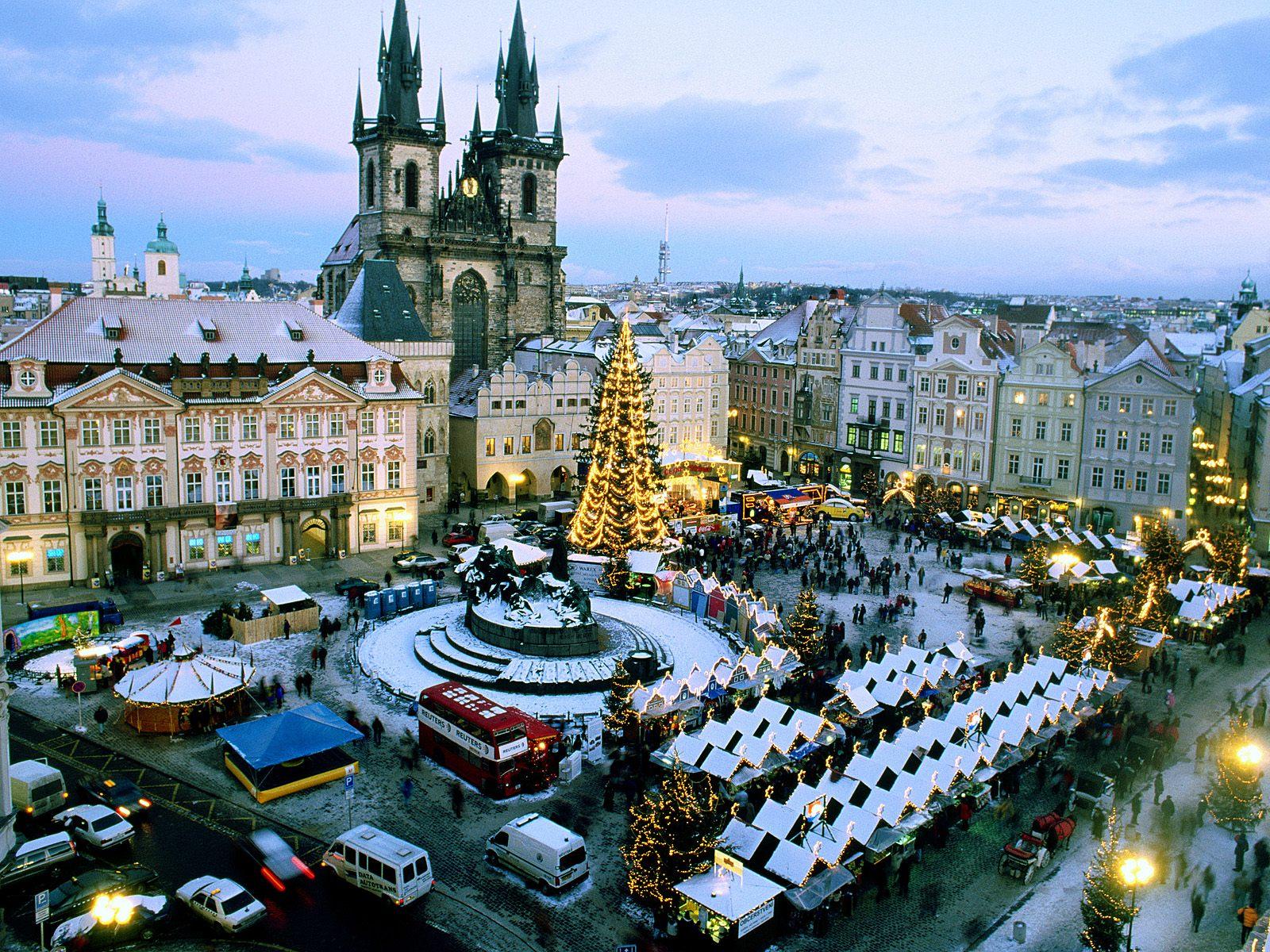christmas market  prague  czech republic
