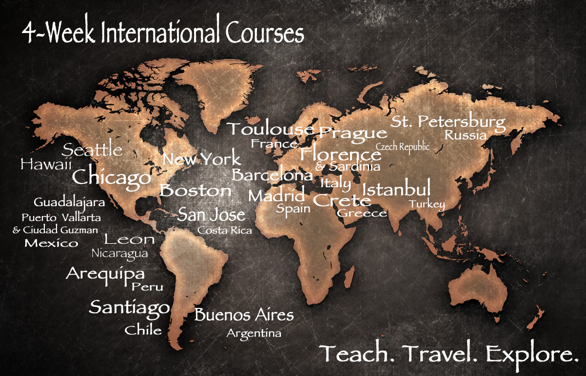 four-week TEFL Courses for teaching English abroad