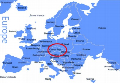 Czech Republic Map Of Europe Thefreebiedepot - World map in czech language