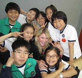Teach English in South Korea class room