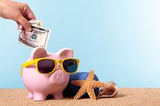 teach English on a budget piggy coins