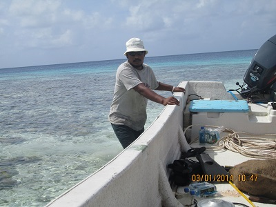 Benjamin Madry teaching English Aur Marshall Islands