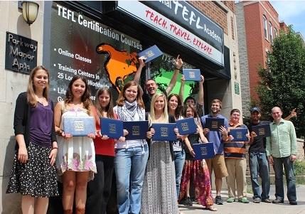 Chicago TEFL class graduation