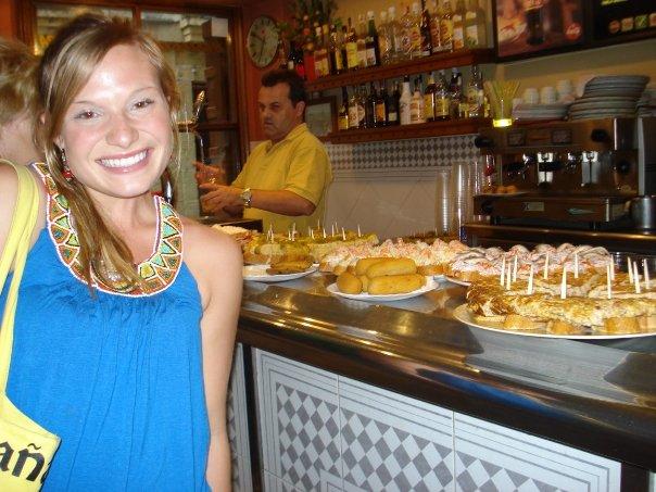 Eating tapas while teaching English in Spain