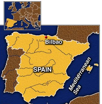 Bilboa Spain English Teaching Map