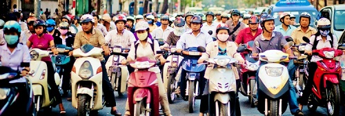 Ho Chi Minh vietnam trafic Teach around the world