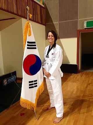 MeganTighe teaching in south korea flag