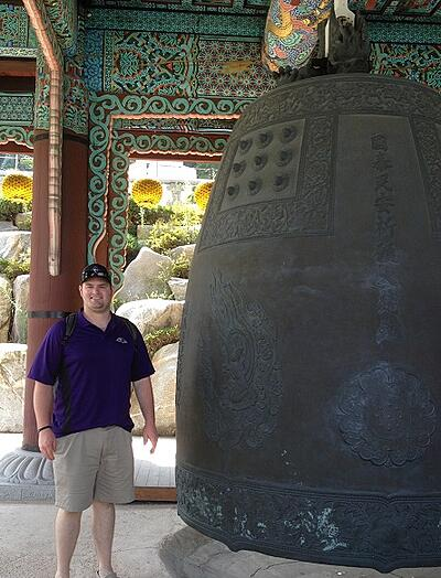 Chris Schannauer in South Korea