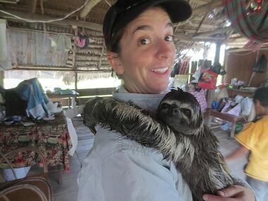 peru amazon caitlin self sloth snuggle web1