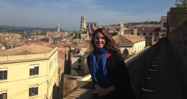 Laura Bell teaching English in Barcelona, Spain