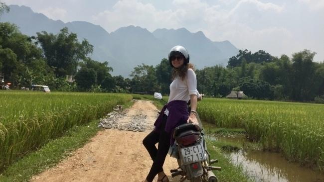 Motorbike is a cheap and easy way to get around Hanoi, Vietnam!