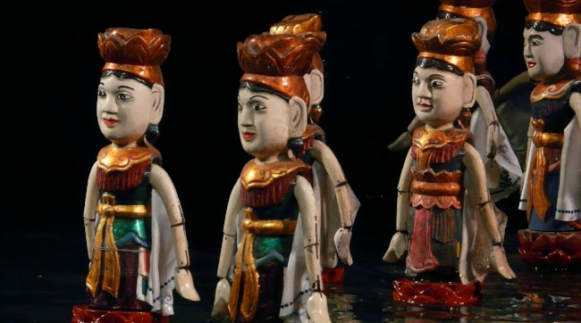 Water Puppets in Hanoi Vietnam
