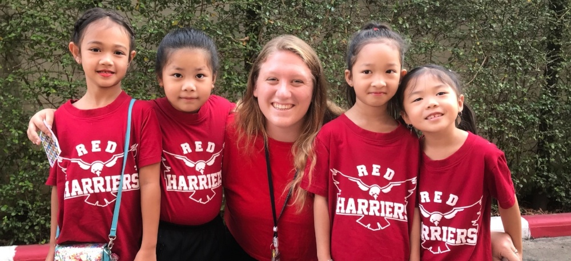 International TEFL Academy Ambassador Allison and her students in Bangkok, Thailand