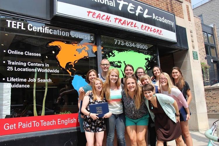 Katie Ayers ITA Chicago TEFL Class Graduation