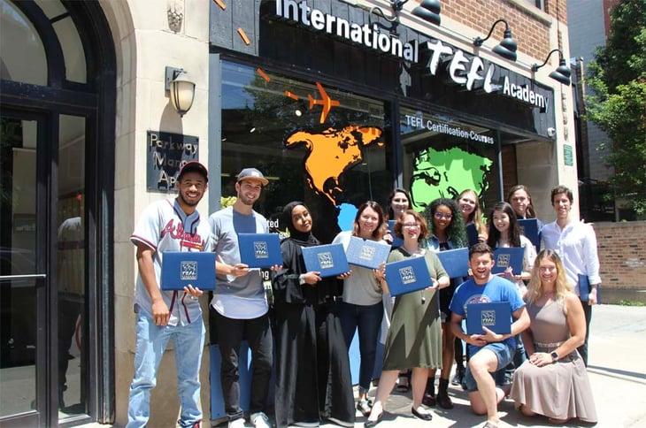Chicago TEFL Class Graduation 2019 - 3-1