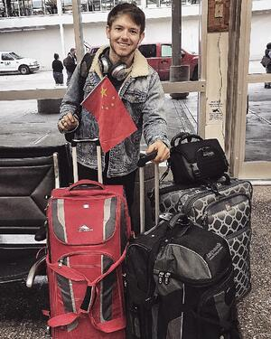 Chris Duck - Flying to China from Tulsa - Airport - Farewell - Departure