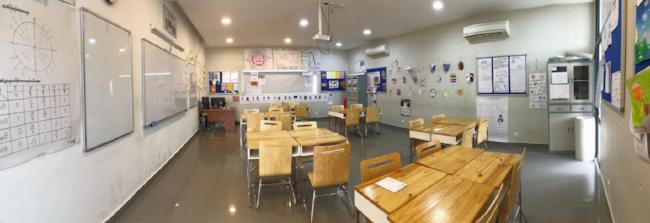 classroom for teaching English in Phnom Penh, Cambodia
