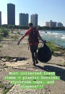 Glenn at beach clean up