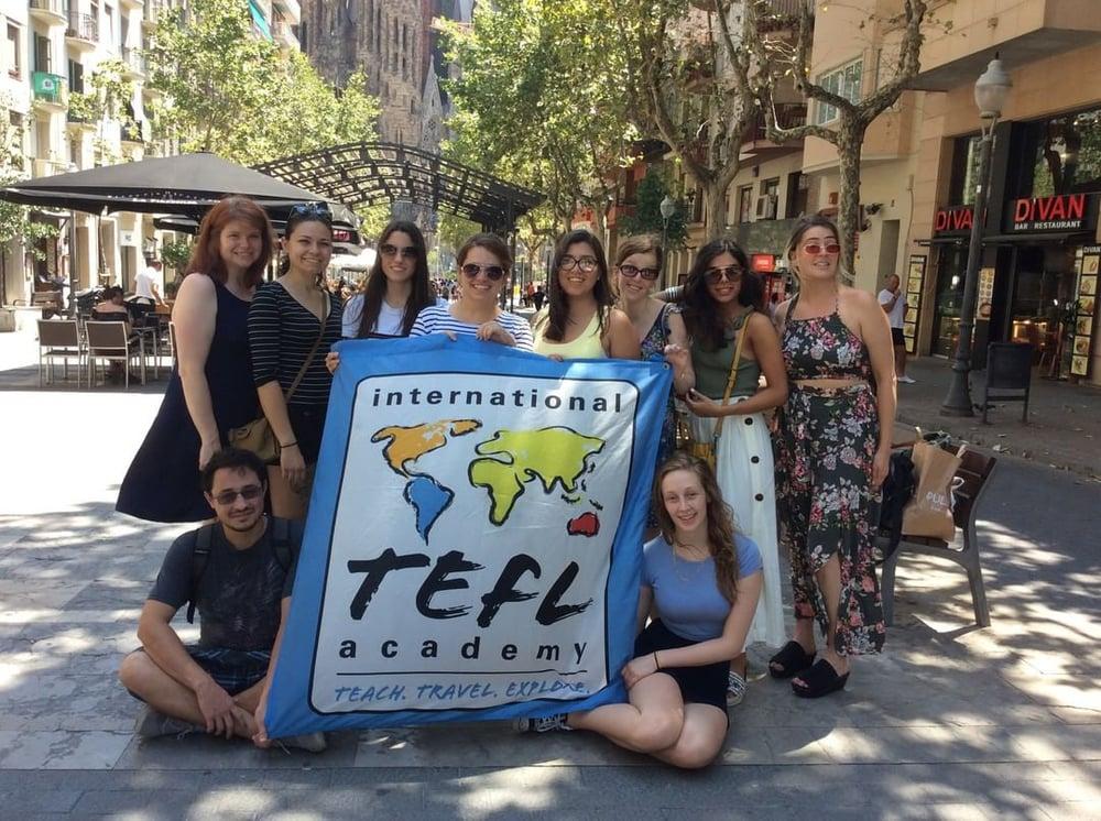 ITA Barcelona, Spain - July Graduation TEFL Class - Flag
