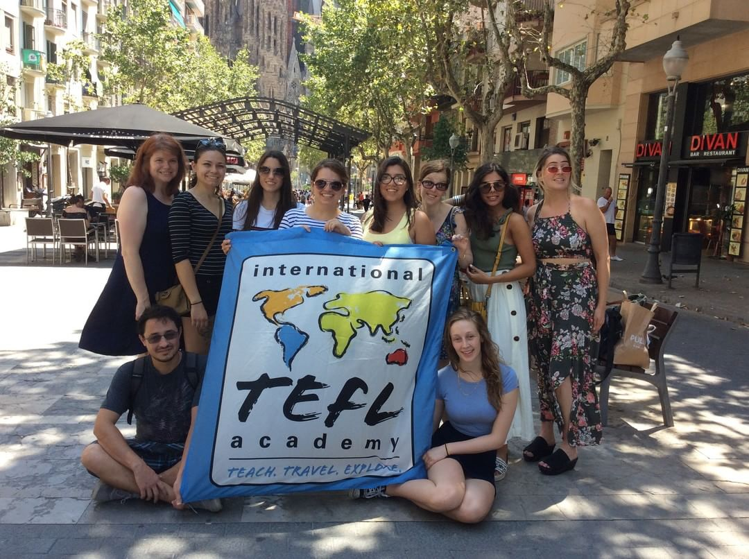 ITA Barcelona, Spain - July Graduation TEFL Class - Flag