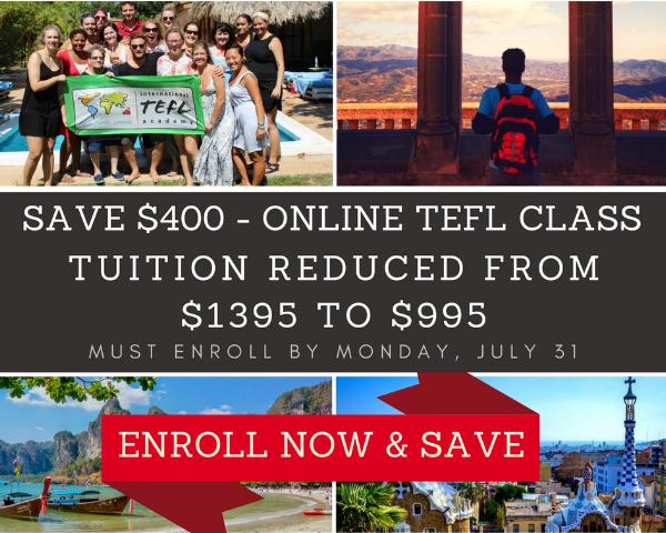 International TEFL Academy Online TEFL Class Discount