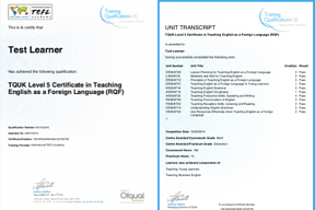 International TEFL Academy - Certificate Sample