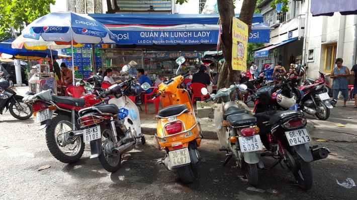 Get around Ho Chi Minh City via motorbike