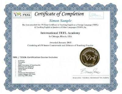 international tefl academy certificate