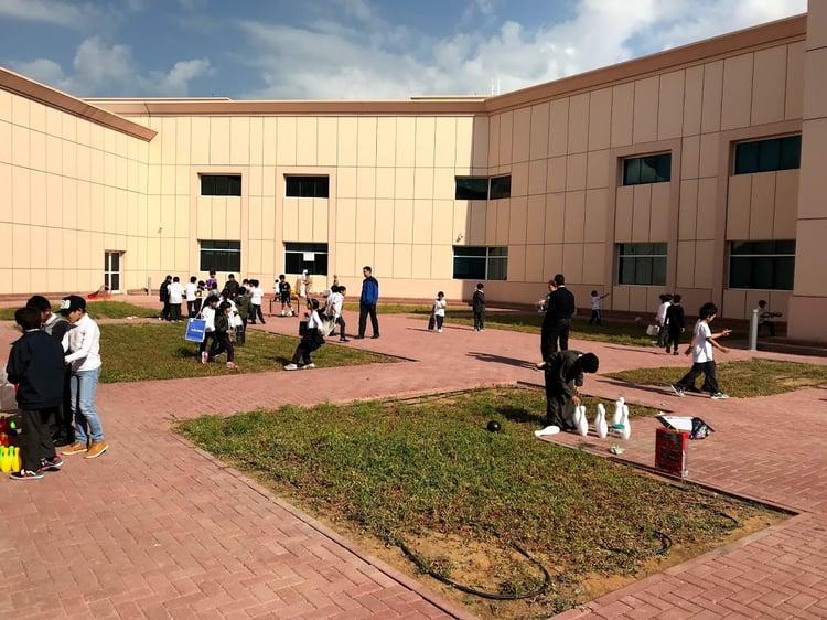 Moving around the school grounds - Ras al Khaimah - UAE
