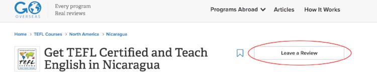 Write a review for International TEFL Academy on GoOverseas.com