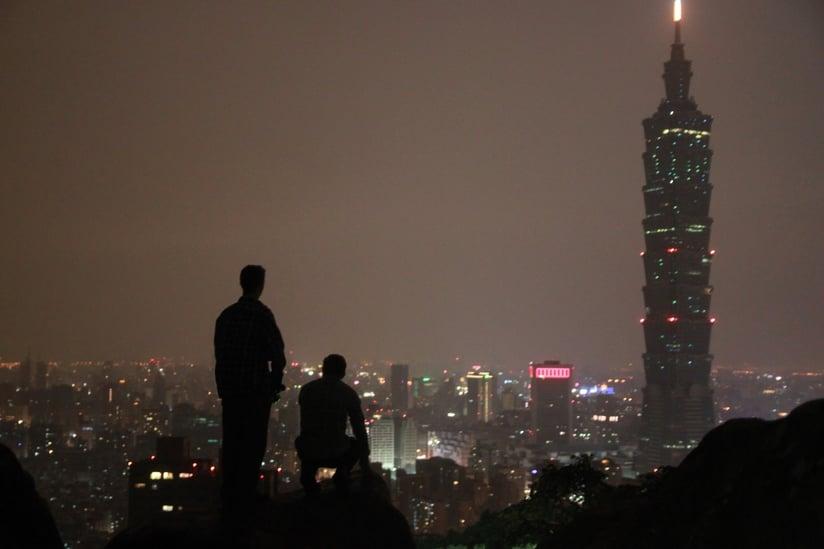 The skyline of Taipei