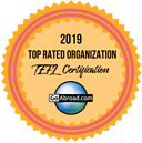 International TEFL Academy was named Top Rated TEFL Organization for 2019 and 2020