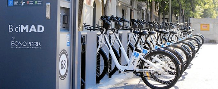 The Bicimad shared bike program in Madrid is a popular way to get around the city.
