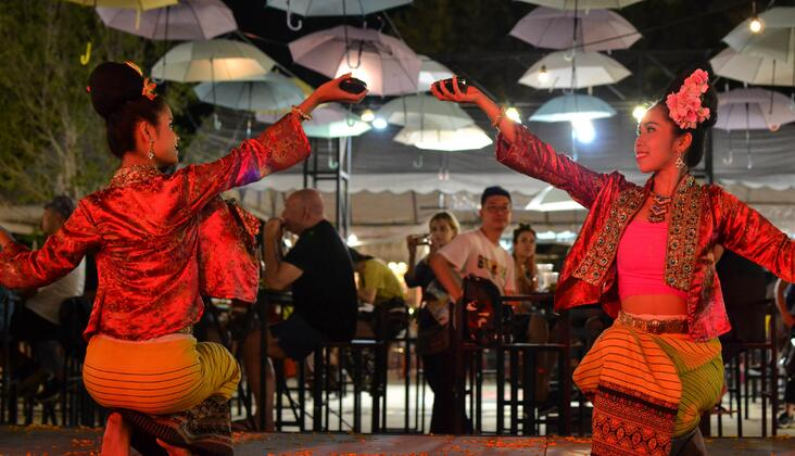 Chiang Mai's Old City neighborhood offers a fun, excentric Night Bazaar