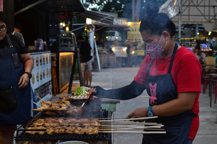 The Night Bazaar in the Old City neighborhood of Chiang Mai offers some great eats!