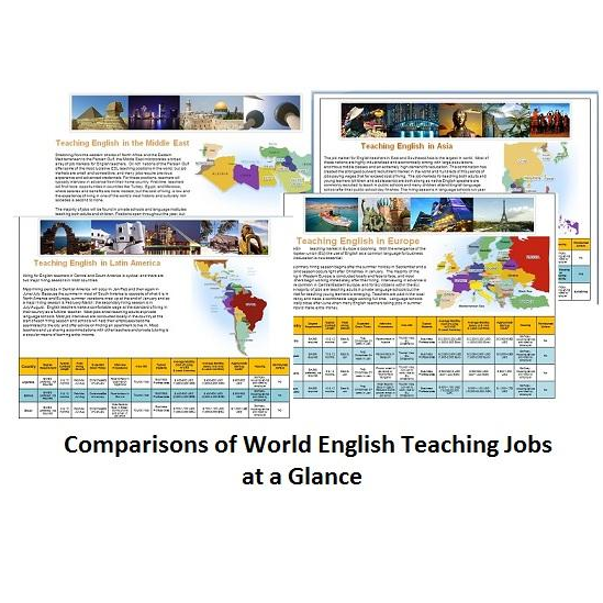 Download a country comparison chart for teaching English abroad
