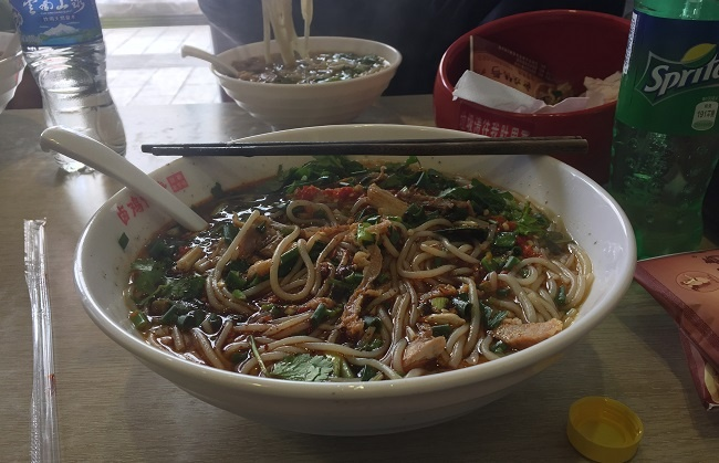 Eat yummy food while teaching English in Kunming, China