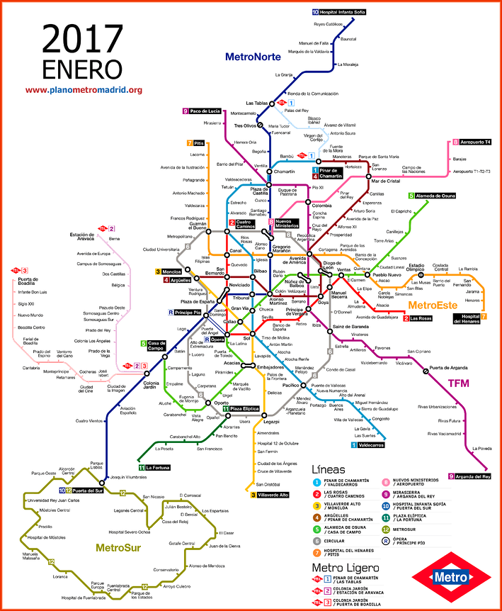 The Madrid train system is a great way to get around!