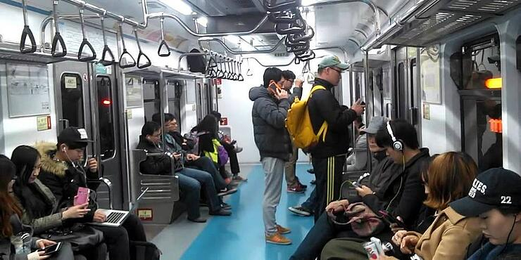 The metro in Seoul is reliable and clean.
