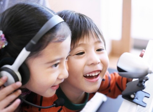 A webcam and headset is needed to teach English online