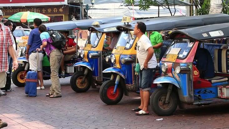 Tuk Tuks are a popular form of transportation around Thailand