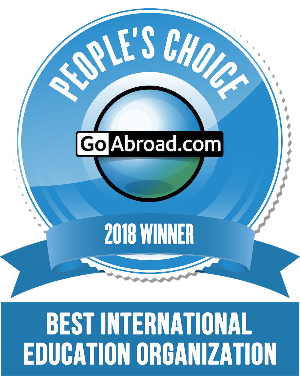 Winner of Goabroad People's choice Award 2018