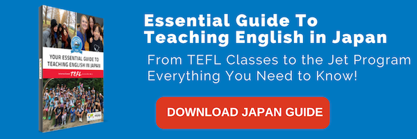 Click here to download the Essential Guide to Teaching English in Japan   that details salaries, hiring requirements, interview procedures, and visa  information  for teaching English abroad in more than 50 countries worldwide.