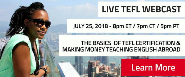 Register for a live webcast about teaching English abroad!