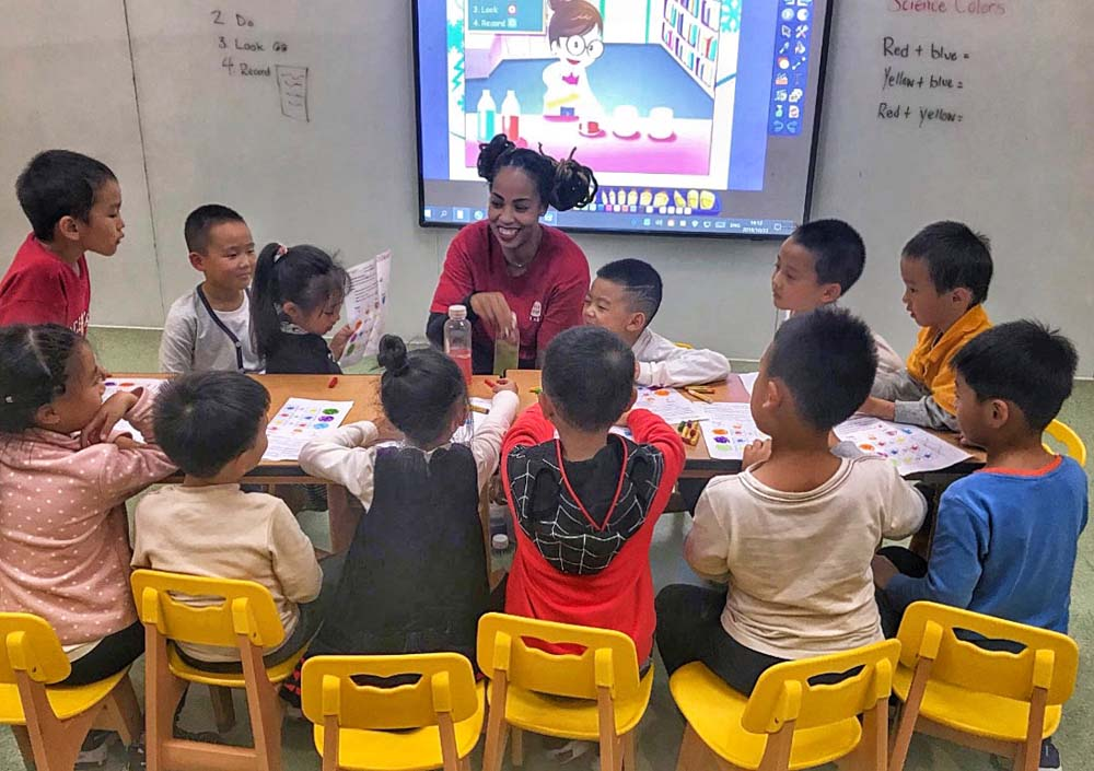 ITA alumna Jessica Stanton teaching English in China