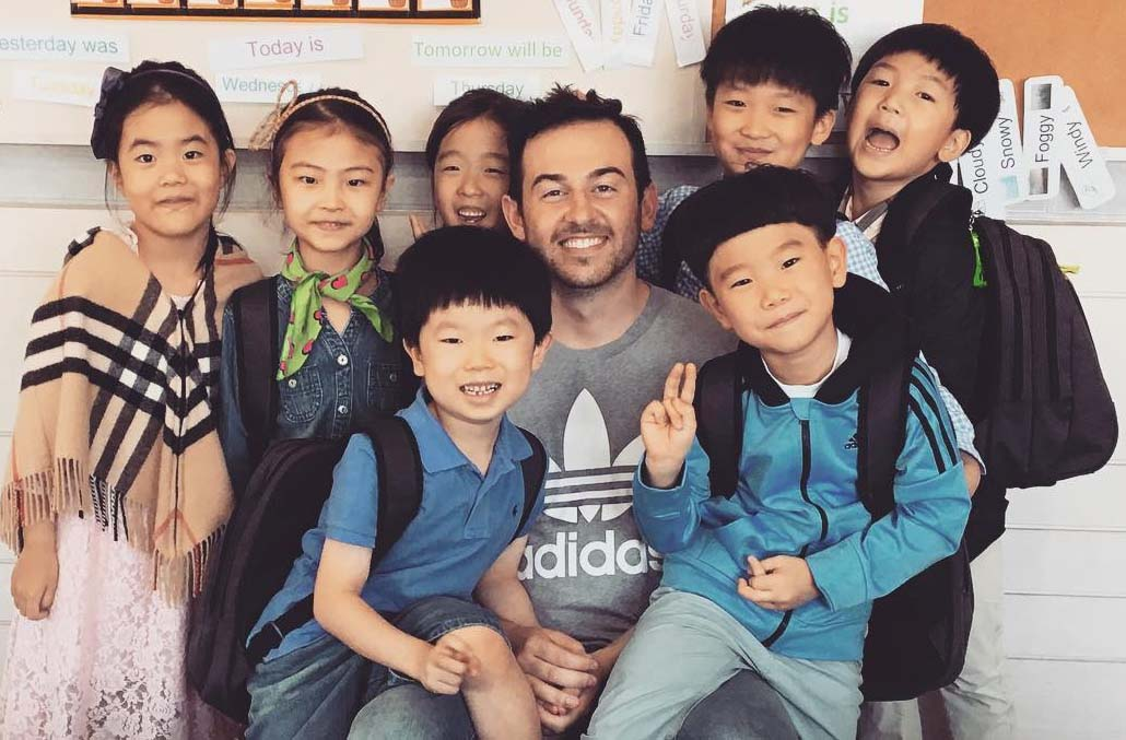 ITA alumnus KJ Schultz teaching English in South Korea