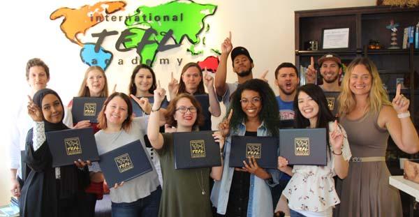 International TEFL Academy Students during Graduation