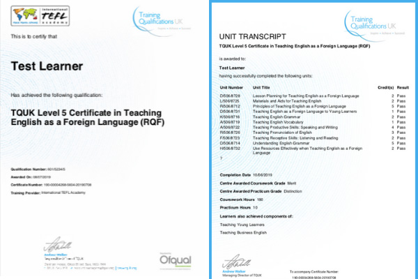 Level 5 Accreditation for TEFL Certification