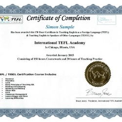 Accreditation for TEFL Classes